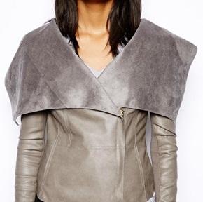 Leather look fallaway jacket (ASOS) 84,28