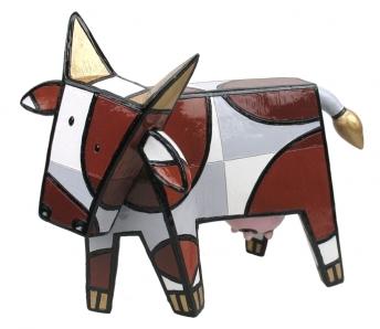 Vrolijke koe bruin-Jaqueline Schafer (Art District)