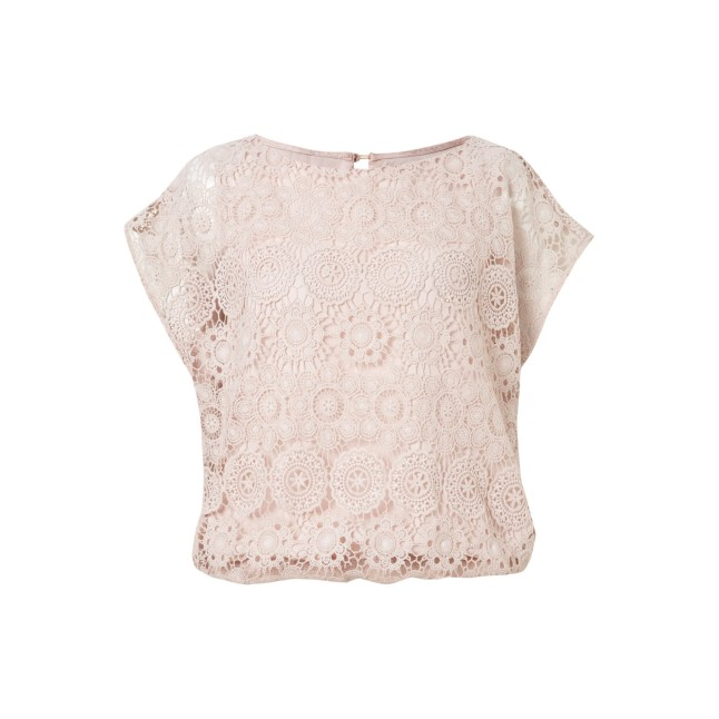 Apricot Pink Crochet circle lace blouse €24,95
